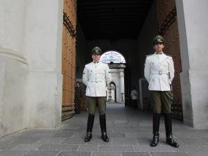 A troca de guardas acontece a cada dois dias e é um ritual no mínimo curioso para se ver (Foto: Eduardo Oliveira)