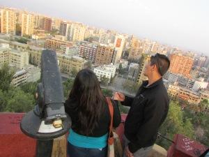 Lá do alto do Cerro de Santa Lucia, se tem uma visão interessante da região central de Santiago (Foto: Eduardo Oliveira)