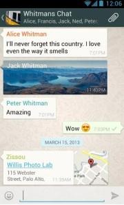 O WhatsApp utiliza a rede 3G ou Wi-Fi (quando disponível) para enviar mensagens de texto, áudio e/ou vídeo (Foto: Divulgação)